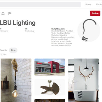 LBU Lighting Pinterest