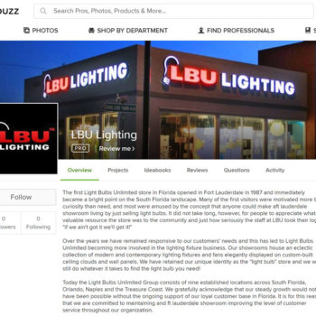 LBU Lighting Houzz profiles